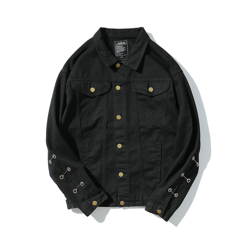 EMBROIDERY GOTHIC DENIM JACKET - FLYHYPE