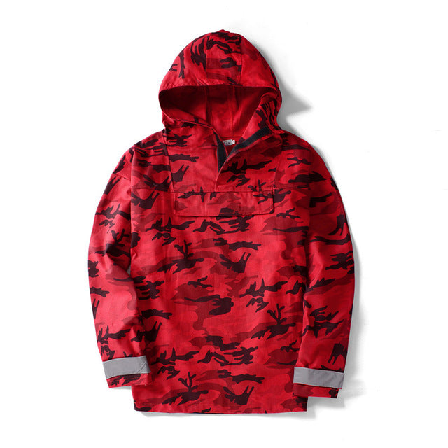 RED CAMO HOODIE - FLYHYPE