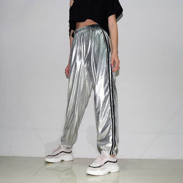 """SATIN"" HIGH WAIST SWEATPANTS"