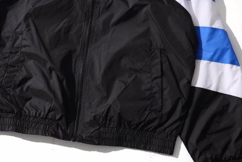 VINTAGE WINDBREAKER JACKET - BLACK