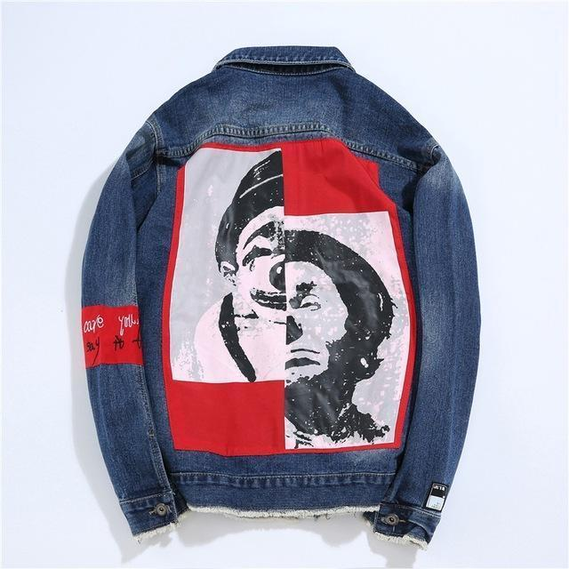 """GOOD VS EVIL"" DENIM JACKET"