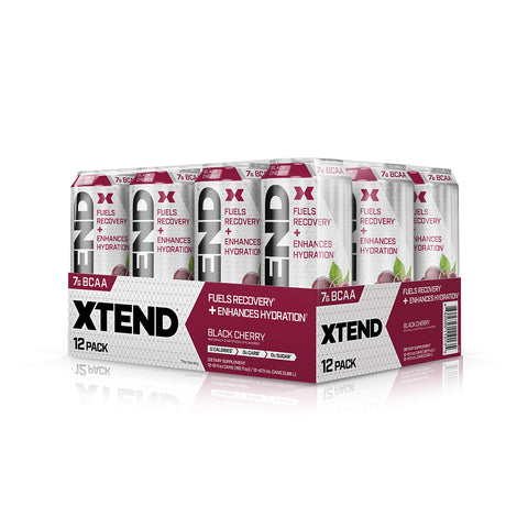 XTEND Black Cherry-Carbonated-12 Pack-Black Cherry-XTEND