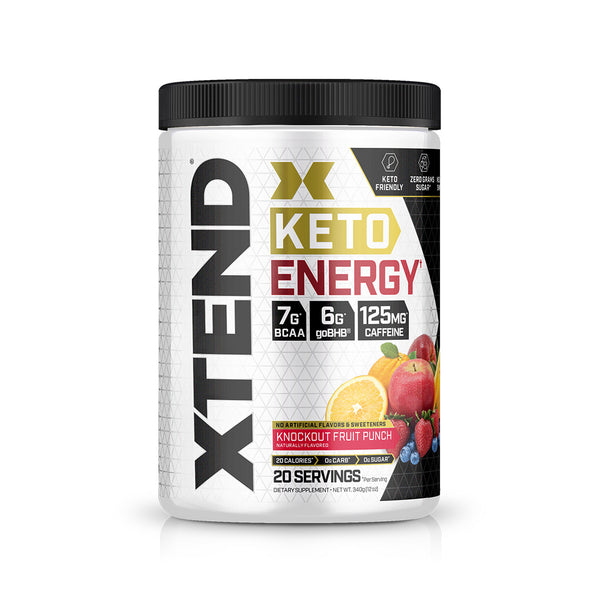 XTEND KETO Energy Knockout Fruit Punch-20 Servings-KETO Energy