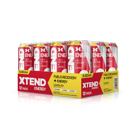XTEND Energy Lemon Ice-Energy Carbonated-12 Pack-Lemon Ice-XTEND