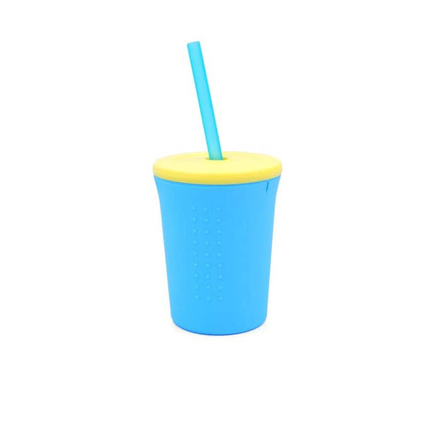 12oz Silicone Straw Cup - Sea/Yellow