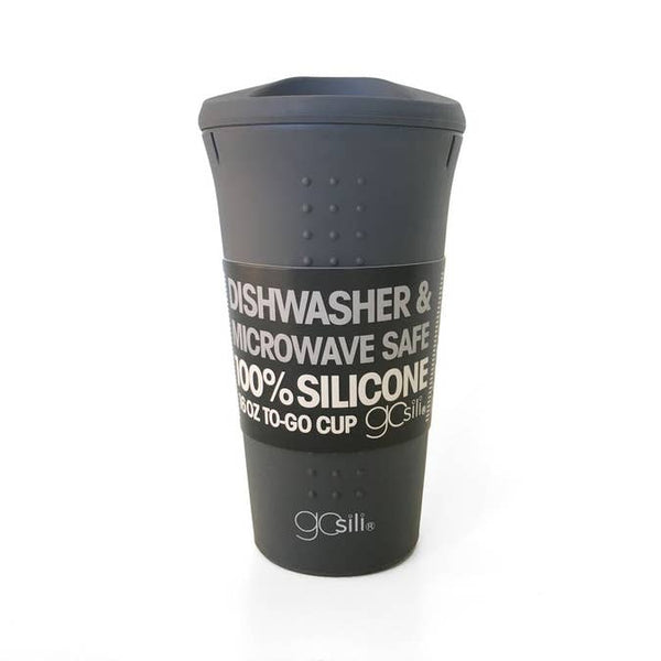 Silicone Travel Mug - 16 oz - Charcoal