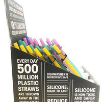 Reusable Silicone Single Straws (Click for Options)