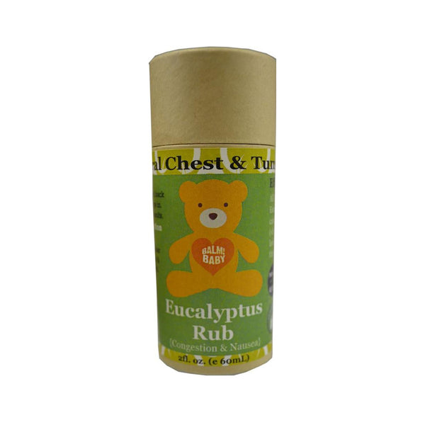 Eucalyptus Rub Stick Natural Chest & Tummy Aid - 2oz