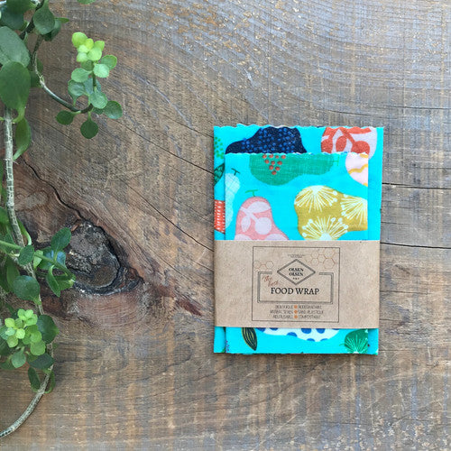 Organic Beeswax Wraps (pack of 3) - Pears