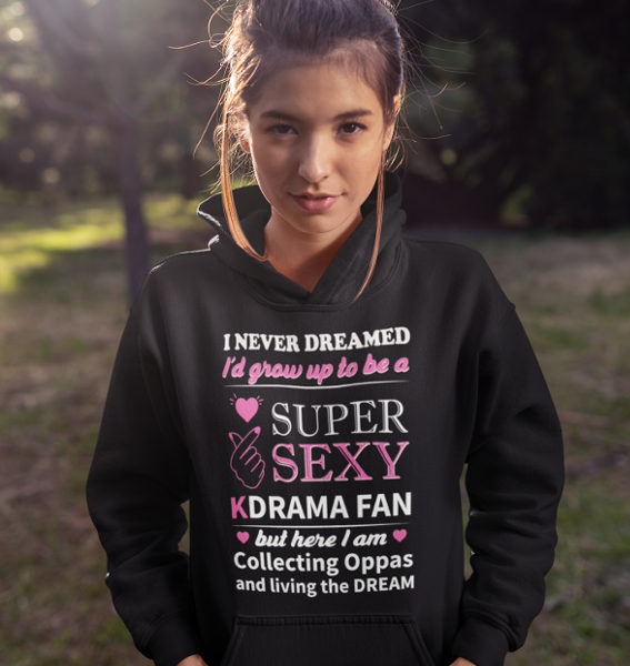 I Never Dreamed But Here I Am Hoodie Black