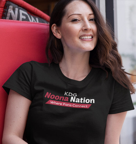 KDG Noona Nation Where Fans Connect Red Ribbon Black T-Shirt