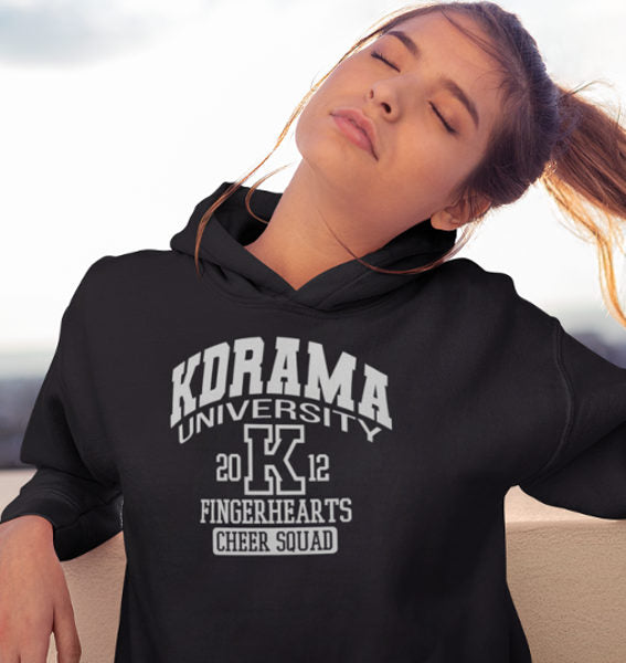 KDrama University Fingerhearts Cheer Squad Hoodies Black