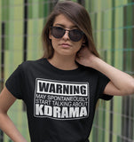 Warning May Spontaenously Start Talking About Korean Drama T-Shirt Black