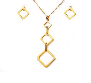 Geometric Gold Set - Shev Jewels