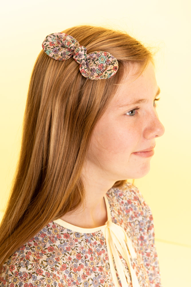 Medium Floral Printed Hair Bow