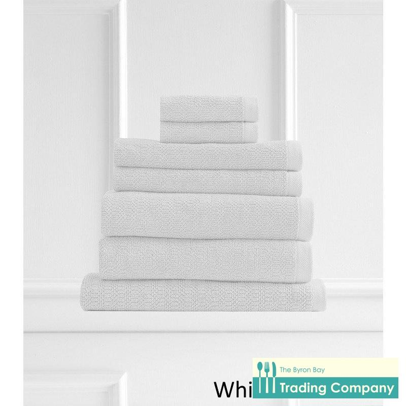100% Egyptian Cotton Hand Towels- White-Byron Bay Trading Company