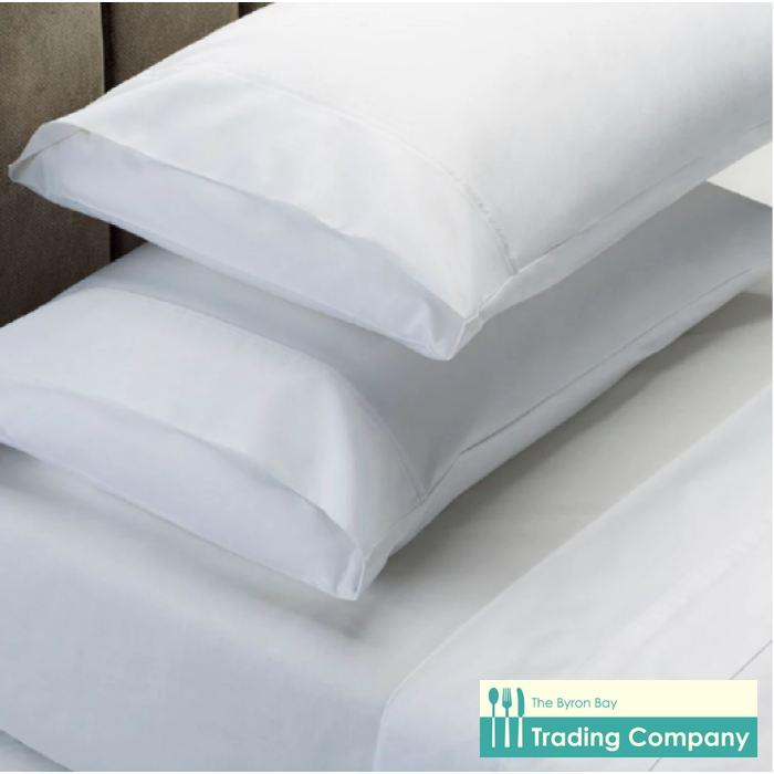 1000TC Egyptian Cotton Sheet Set Queen - White-Byron Bay Trading Company
