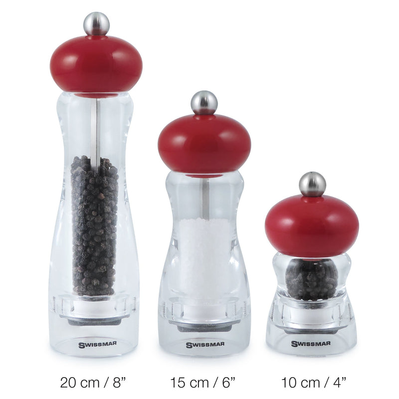Swissmar Andrea Pepper Mill 15cm Red