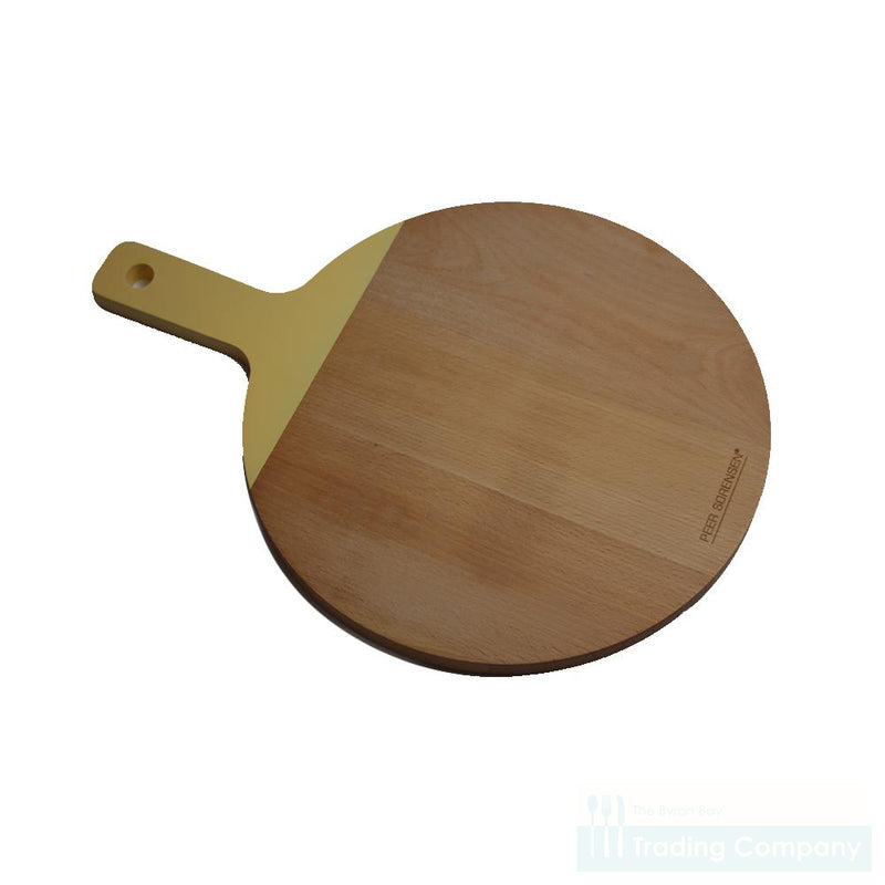 Peer Sorensen European Beechwood Round Serving Board-Buttercup Yellow