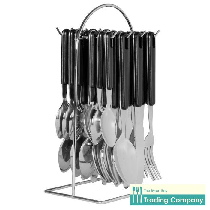 Avanti Hanging Cutlery Set Black 24pc-Byron Bay Trading Company