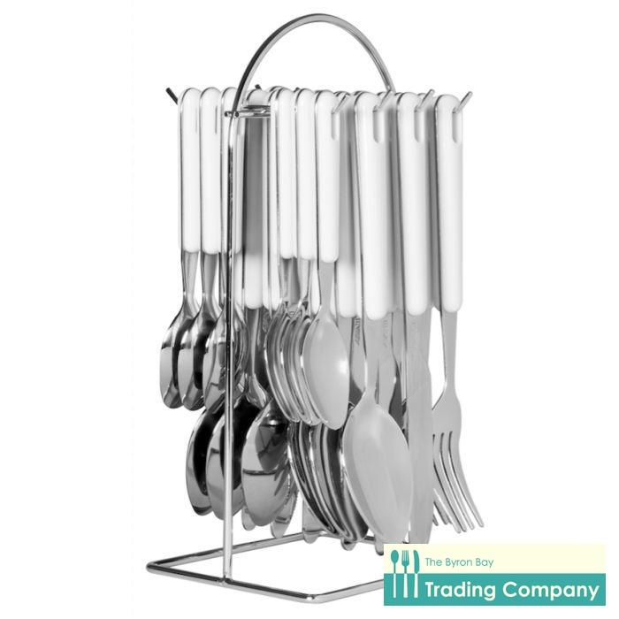Avanti Hanging Cutlery Set White 24pc-Byron Bay Trading Company