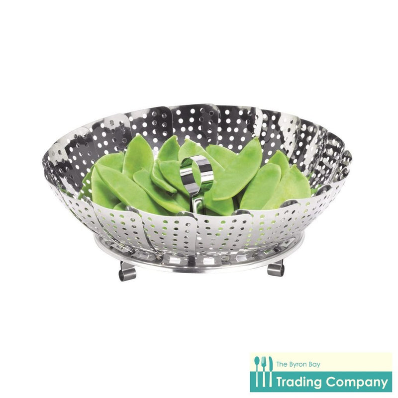 Avanti Stainless Steel Steamer Basket 24cm-Byron Bay Trading Company