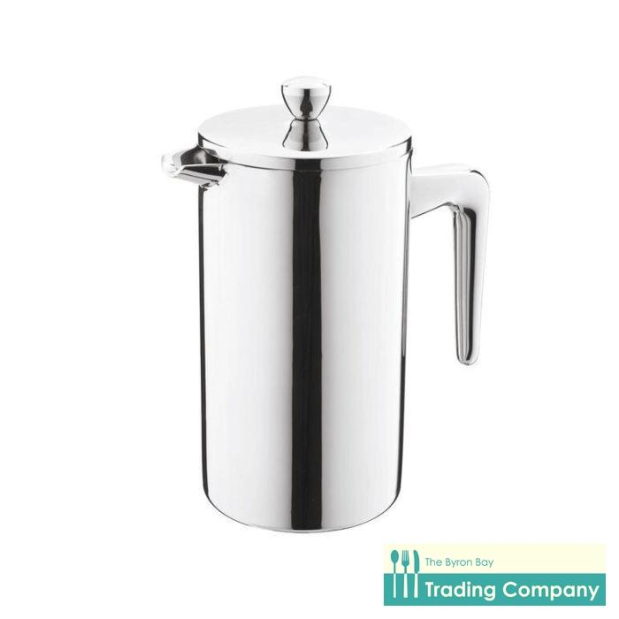Casa Barista Modena Stainless Steel Twin Wall Coffee Plunger 800ml-Byron Bay Trading Company