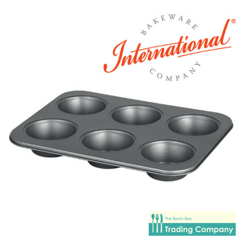 International Bakeware Muffin Pan /6 pod-Byron Bay Trading Company