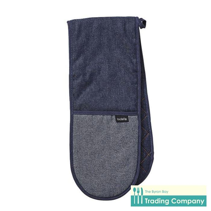 Ladelle Denim Blue Double Mitt-Byron Bay Trading Company