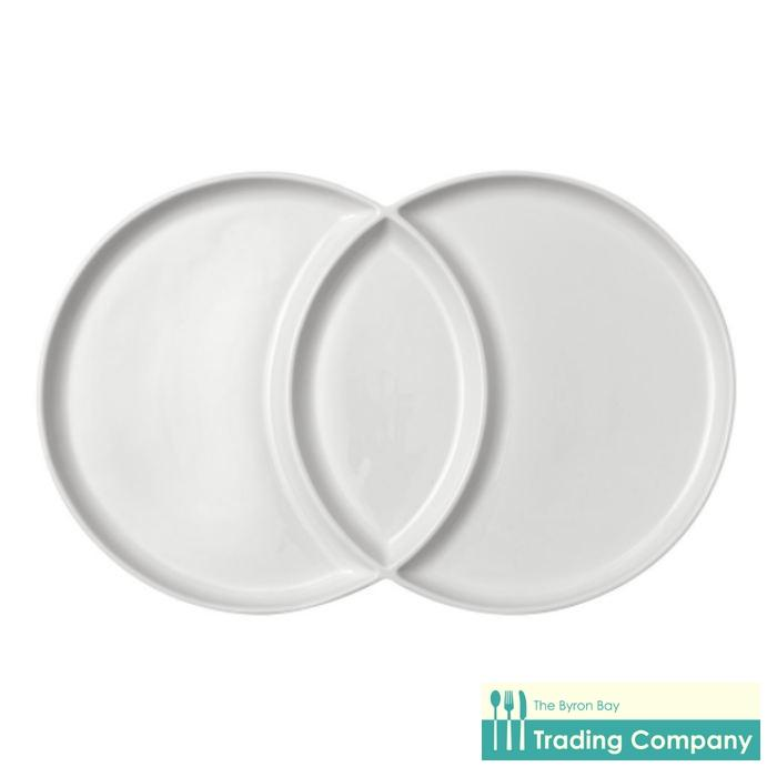 Ladelle Loop Platter White 42cm-Byron Bay Trading Company