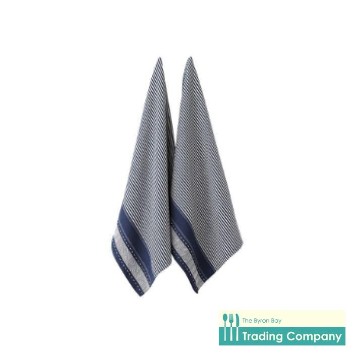 Ladelle Mason Jumbo 2 Pack Kitchen Towels - Navy-Byron Bay Trading Company