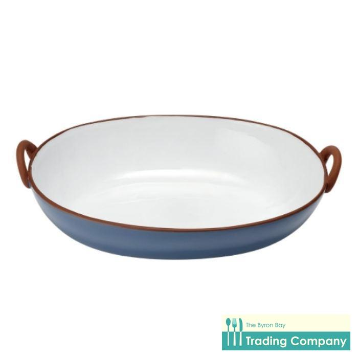 Ladelle Tapas Blue Handled Salad Bowl-Byron Bay Trading Company
