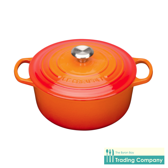 Le Creuset Round Casserole 26cm Volcanic-Byron Bay Trading Company