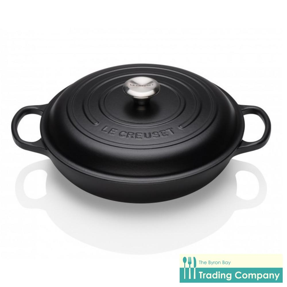 Le Creuset Shallow Casserole 30cm Black-Byron Bay Trading Company