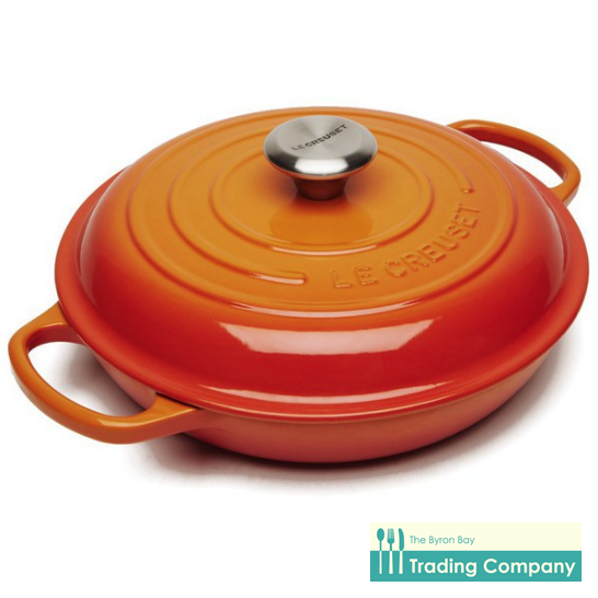 Le Creuset Shallow Casserole 30cm Volcanic-Byron Bay Trading Company