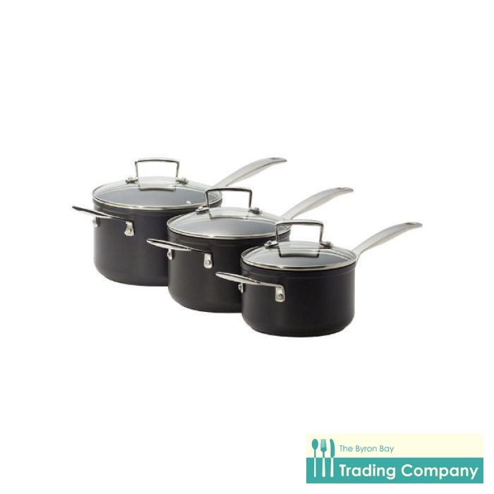 Le Creuset Toughened Non-Stick 3pc Saucepan Set-Byron Bay Trading Company
