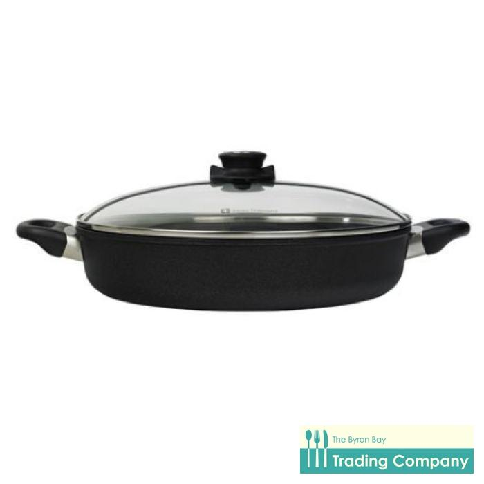 Swiss Diamond XD Classic Sauteuse Pan + Lid 32cm Induction-Byron Bay Trading Company