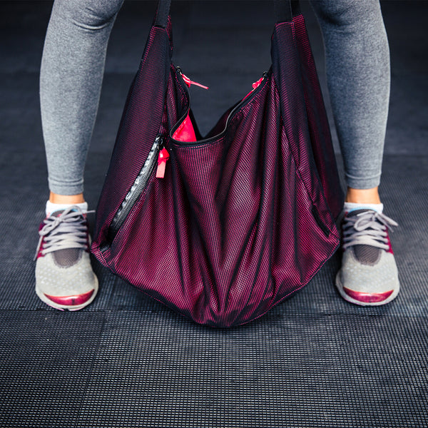 Sloppy gym bag.