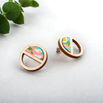 Half Moon Marbled Studs
