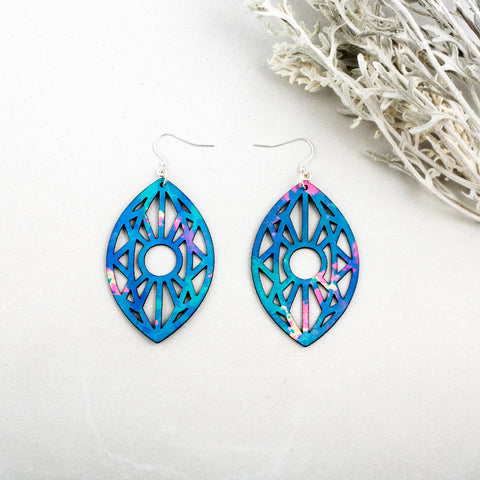 Third Eye Leather Earrings