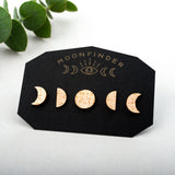 Moon Phase Studs Set