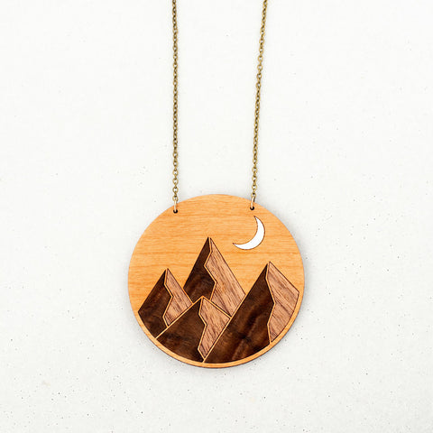 Wooden Mountain Peak Necklace