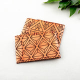 Geometric Slim Leather Wallet