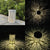 Solar Tree Pattern Lantern Light