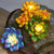 Garden Decor Solar Stone Statue Light