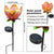 Solar Flower Crackle Garden Light