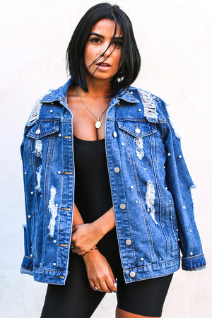Perla Denim Ripped Jacket