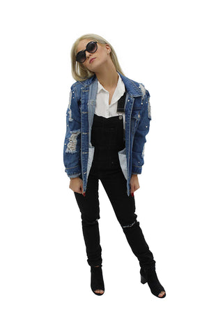 Perla Jacket & Black Overalls