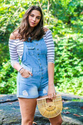 Cowgirl Chic Shorts Overalls