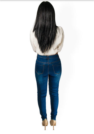 Flower Power Jeans - Dark Wash